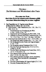 Christus Die Substanz und Wirklichkeit aller Feste