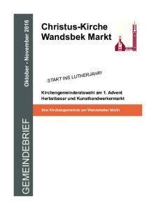 Christus-Kirche Wandsbek Markt