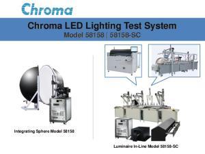 Chroma LED Lighting Test System Model SC
