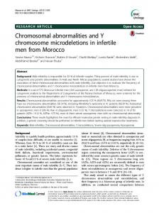 Chromosomal abnormalities and Y chromosome microdeletions in infertile men from Morocco