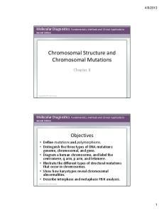 Chromosomal Structure and Chromosomal Mutations