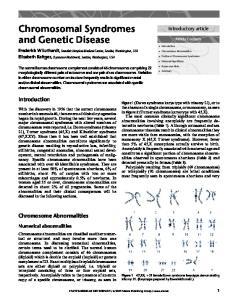 Chromosomal Syndromes and Genetic Disease