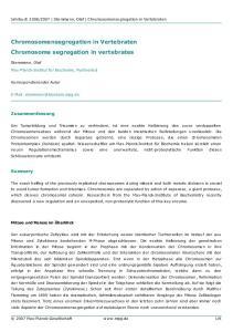 Chromosome segregation in vertebrates