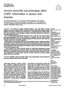 Chronic bronchitis sub-phenotype within COPD: inflammation in sputum and biopsies