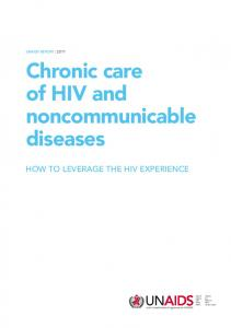 Chronic care of HIV and noncommunicable diseases