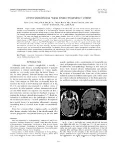 Chronic Granulomatous Herpes Simplex Encephalitis in Children