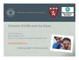 Chronic GVHD and the Eyes