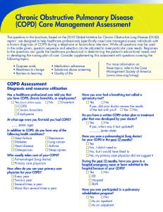 Chronic Obstructive Pulmonary Disease (COPD) Care Management Assessment