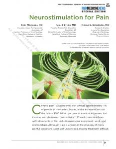 Chronic pain is a pandemic that affects approximately 11% Neurostimulation for Pain