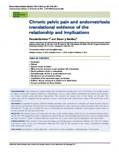 Chronic pelvic pain and endometriosis: translational evidence of the relationship and implications