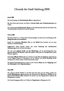 Chronik der Stadt Salzburg 2000