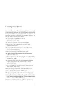 Chronological List of Books