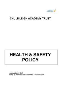 CHULMLEIGH ACADEMY TRUST HEALTH & SAFETY POLICY