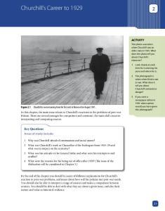 Churchill s Career to 1929