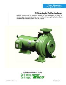 CI Close-Coupled End Suction Pumps