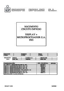 C.I. DISPLAY + MICROPROCESADOR G.A. IND