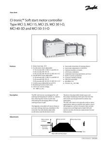 CI-tronic Soft start motor controller Type MCI 3, MCI 15, MCI 25, MCI 30 I-O, MCI 40-3D and MCI 50-3 I-O
