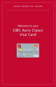 CIBC Aero Classic Visa * Card