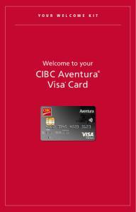 CIBC Aventura Visa * Card
