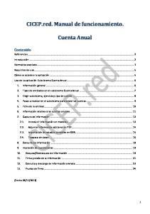 CICEP.red. Manual de funcionamiento. Cuenta Anual