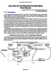 CICLADO DE NUTRIENTES EN SISTEMAS PASTORILES