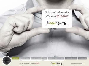 Ciclo de Conferencias y Talleres Ciclo de Conferencias y Talleres