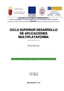 CICLO SUPERIOR DESARROLLO DE APLICACIONES MULTIPLATAFORMA