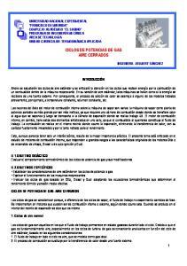 CICLOS DE POTENCIAS DE GAS AIRE CERRADOS