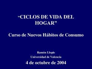 CICLOS DE VIDA DEL HOGAR