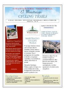CICLOTURISMO. INDIVIDUAL El Maestrazgo CYCLING TRAILS MAESTRAZGO CYCLING TRAILS