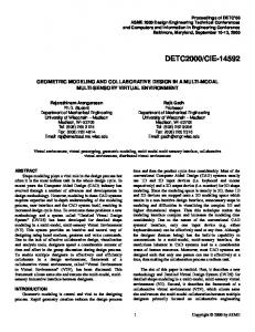 CIE GEOMETRIC MODELING AND COLLABORATIVE DESIGN IN A MULTI-MODAL MULTI-SENSORY VIRTUAL ENVIRONMENT