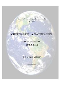 CIENCIAS DE LA NATURALEZA