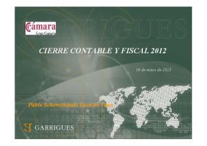 CIERRE CONTABLE Y FISCAL 2012
