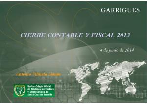 CIERRE CONTABLE Y FISCAL 2013