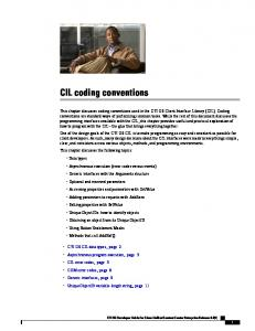CIL coding conventions