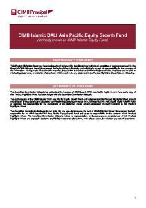 CIMB Islamic DALI Asia Pacific Equity Growth Fund (formerly known as CIMB Islamic Equity Fund)