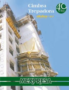 Cimbra Trepadora. The Formwork Experts 150 F