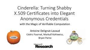 Cinderella: Turning Shabby X.509 Certificates into Elegant Anonymous Credentials