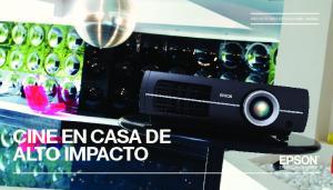 CINE EN CASA DE ALTO IMPACTO PROYECTORES EPSON HOME CINEMA