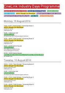 CineLink Industry Days Programme