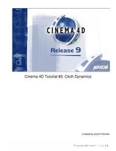 Cinema 4D Tutorial #2: Cloth Dynamics