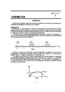 CINEMATICA CAPITULO 1 CINEMATICA