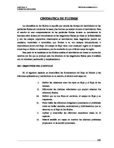 CINEMATICA DE FLUIDOS