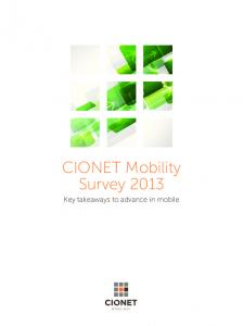 CIONET Mobility Survey 2013