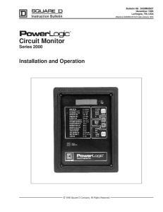 Circuit Monitor Series 2000