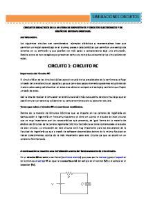 CIRCUITO 1: CIRCUITO RC