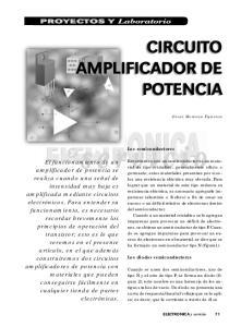 CIRCUITO AMPLIFICADOR DE POTENCIA