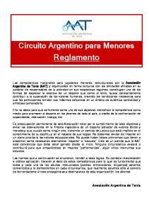 Circuito Argentino para Menores. Reglamento