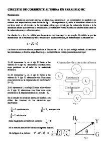 CIRCUITO DE CORRIENTE ALTERNA EN PARALELO RC