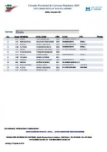 Circuito Provincial de Carreras Populares 2015